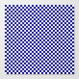 Large Australian Flag Blue and White Check  Checkerboard Canvas Print