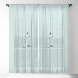 Libra Star Sign Constellation Sheer Curtain