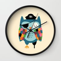 captain Wall Clocks featuring Captain Whooo by Andy Westface