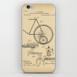 1897 Patent Bicycle Velocipede iPhone Skin