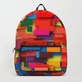 colored bricks Backpack