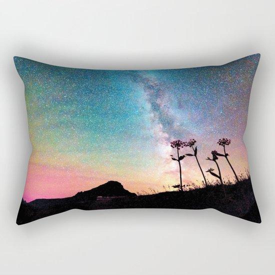 Milky Way Landscape Rainbow Pastel Rectangular Pillow