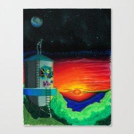 Graffiti Nights Canvas Print