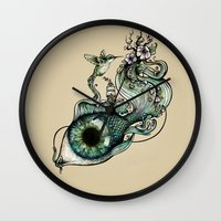 inspiration Wall Clocks featuring Flowing Inspiration by Enkel Dika