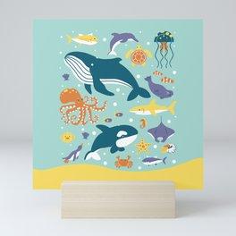 Sea Animals Mini Art Print