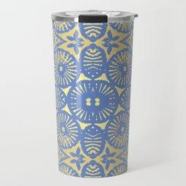goldblue flowerpower 3 Travel Mug