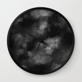 Black Heart in the Clouds Wall Clock