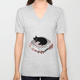 cat love Unisex V-Neck