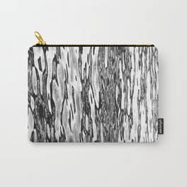 Water Currents Black and White Carry-All Pouch