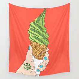 Matcha Ice Cream! Wall Tapestry