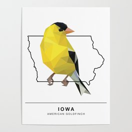 Iowa – American Goldfinch Poster