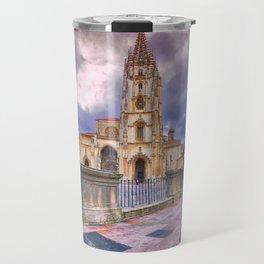 Cathedral of San Salvador  in Oviedo. Travel Mug
