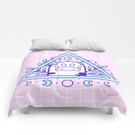Witchy Cat Paw 03 Comforters