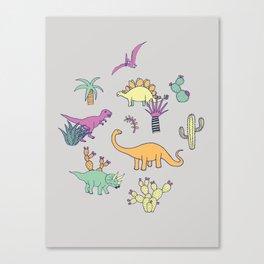 Dinosaur Desert Canvas Print
