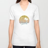 paradise V-neck T-shirts featuring Paradise by Anthony Troester