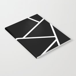 Black and White Fragments - Geometric Design II Notebook