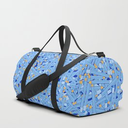Bedtime Stories BLUE / Cartoon pencil pattern Duffle Bag