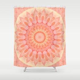 Mandala soft orange 2 Shower Curtain