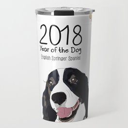 Year of the Dog - English Springer Spaniel Travel Mug