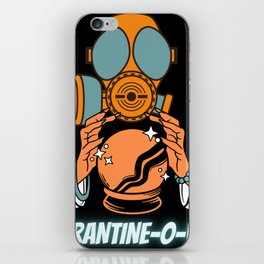 Quarantine-O-Ween Witch Funny Halloween Costume Funny Halloween Gift Magical Witchcraft iPhone Skin