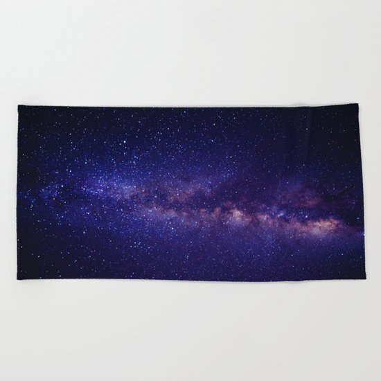 Summer Shore Galaxy Beach Towel