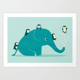 Waterslide Art Print