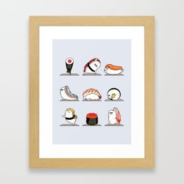 Sushi Yoga Framed Art Print