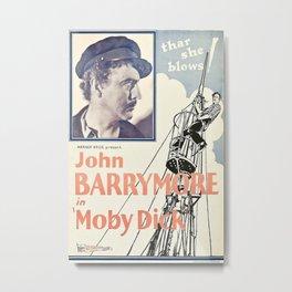 Vintage poster - Moby Dick Metal Print