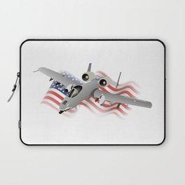American A-10 Warthog Jet Aircraft Laptop Sleeve