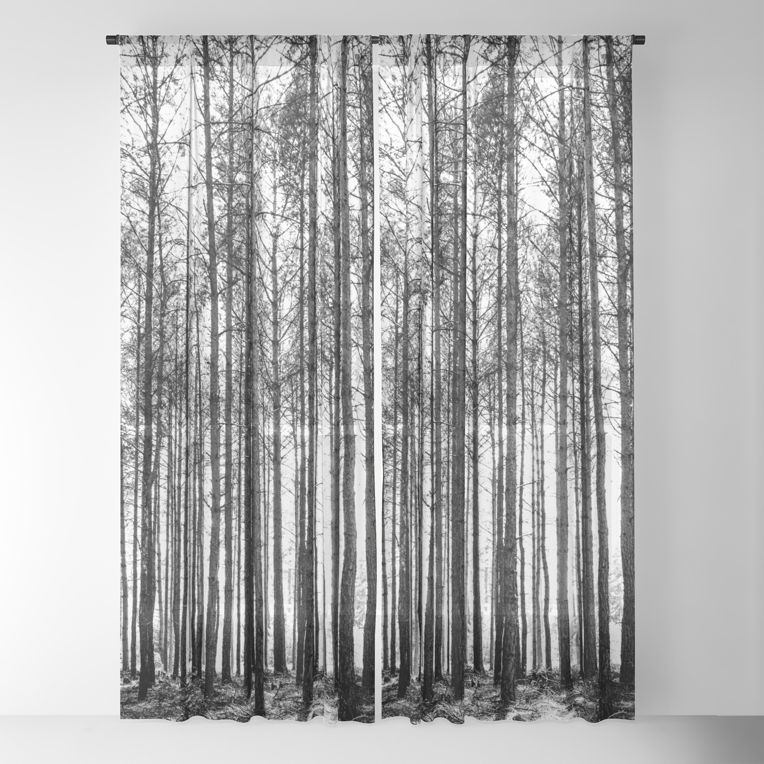 Sheer Curtains Forest nature photography by RDelean Designs Treescape Home Decor