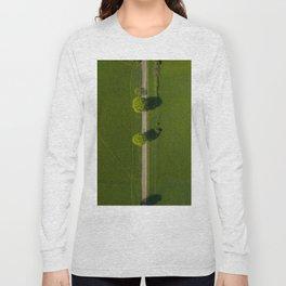germany grass vertical view hattingen forrest drone green kemnade street trees Long Sleeve T-shirt
