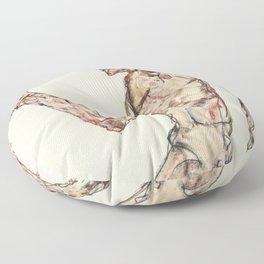"""Egon Schiele """"The Dancer"""" Floor Pillow"""