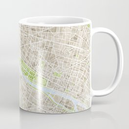 Paris SGB Watercolor Map Coffee Mug