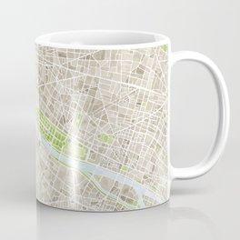 Paris SGB Watercolor Map Coffee Mug