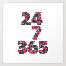 24-7/365 (Lipstick) Art Print