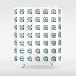 Cute Funny Hamster Pattern Illustration Shower Curtain
