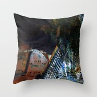 blues Throw Pillows featuring Blues by  Agostino Lo Coco