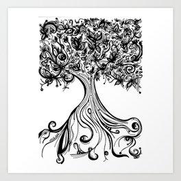 Árbol de la abundancia (Abundance tree) Art Print