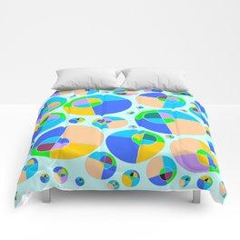Bubble blue & orange Comforters