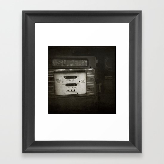 { super } Framed Art Print