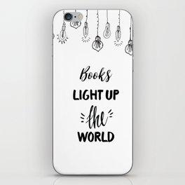 Books Light Up the World iPhone Skin