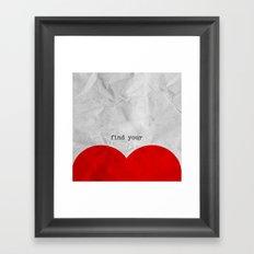find your half (1 of 2 parts)  Framed Art Print