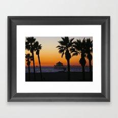 Surf City / Huntington Beach Sunset  11/7/14 Framed Art Print
