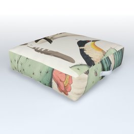 Woodpeckers And Cacti Outdoor Floor Cushion