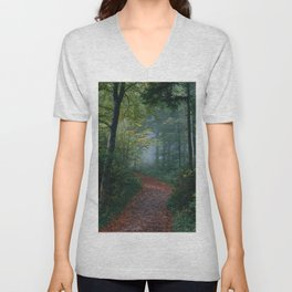 The Forest Path (Color) Unisex V-Neck