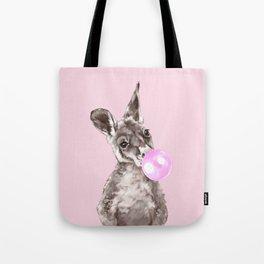 Bubble Gum Baby Kangaroo Tote Bag