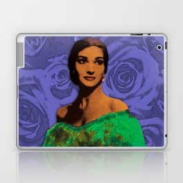 Maria Callas Stenciled Indigo Laptop & iPad Skin