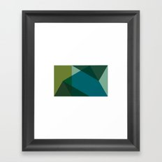 #530 Mont Sainte-Victoire – Geometry Daily Framed Art Print