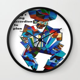 Everything's Going Accordion To Plan Wall Clock