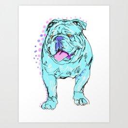 The Happy Bully Love of my Life! Art Print